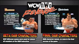 WCW/nWo Revenge - Beta vs Final Version