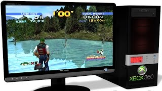 XENIA Xbox 360 Emulator - Sega Bass Fishing (2011) / Dreamcast Collection. Gameplay. Test #1