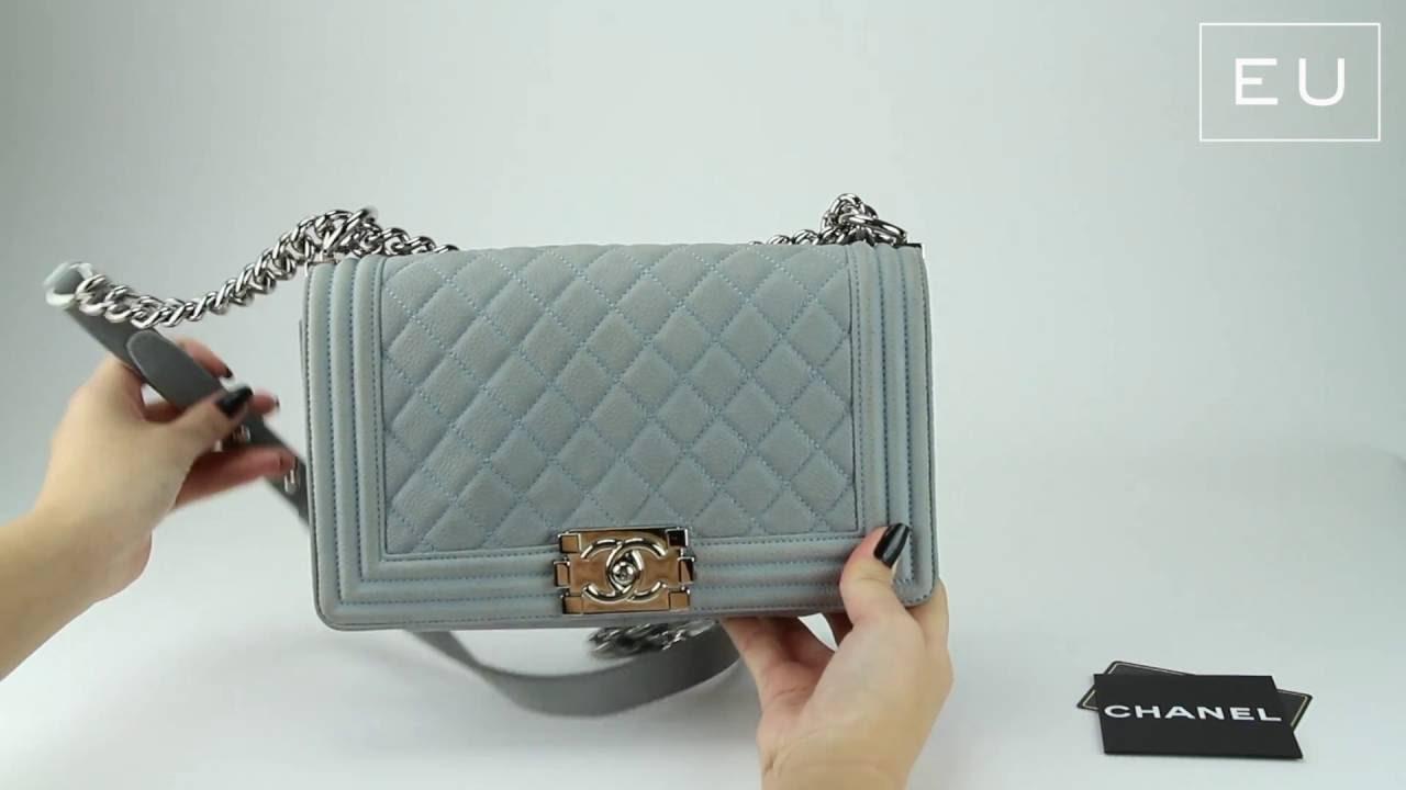a5ea01747d77 Bolsa Chanel Boy Azul Pastel | Etiqueta Única - YouTube