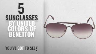 Top 10 United Colors Of Benetton Sunglasses [2018]: United Colors of Benetton Aviator Sunglasses
