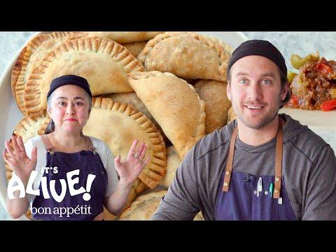 Brad and Gaby Make Beef Empanadas   It's Alive   Bon Appétit