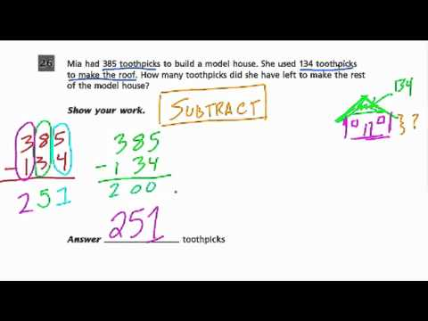 Subtraction - Grade 3 Common Core Standards - YouTube
