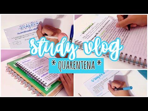 STUDY VLOG Da QUARENTENA *estudando Biologia E Português*