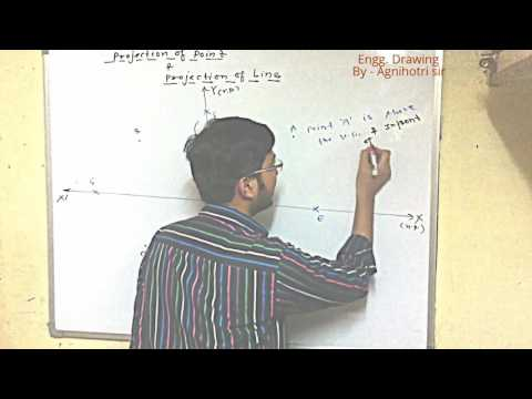 Introduction to Projection of Line Part-1 in Engineering Drawing