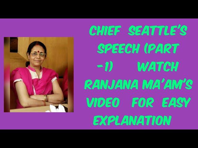 Chief Seattle Speech Summary 1854 English Summary