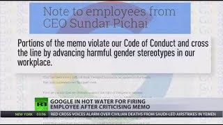Google sacks employee for memo on gender stereotypes
