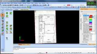 How Fast Can You Draw: Plan Drawing Exercise In Caddie Aec Architecture .dwg Software