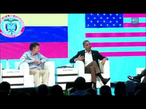 Obama My Job in Colombia Is to Find Good Vacation Spots for Michelle