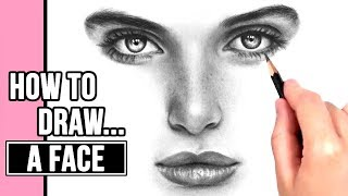 How to Draw a Realistic Face | Drawing Tutorial Part 1: Eyes, Nose + Mouth