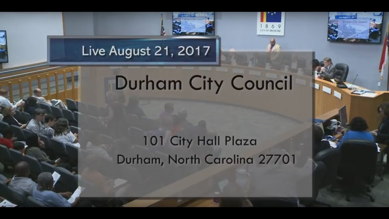 Durham City Council August 21 2017 Youtube