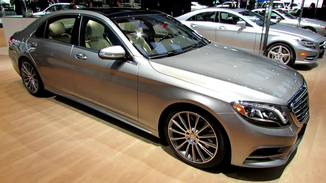 2015 mercedes benz s class s550 4matic exterior and interior walkaround 2014 detroit auto. Black Bedroom Furniture Sets. Home Design Ideas