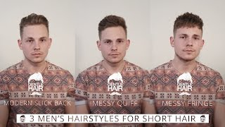 3 hairstyles for short men