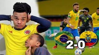 BRASIL vs ECUADOR (2-0) REACCIÓN de un HINCHA - ELIMINATORIAS AL MUNDIAL QATAR 2022