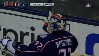 Alex Ovechkin scores his second on the POWER PLAY (Caps vs. Blue Jackets 2018 NHL Playoffs)
