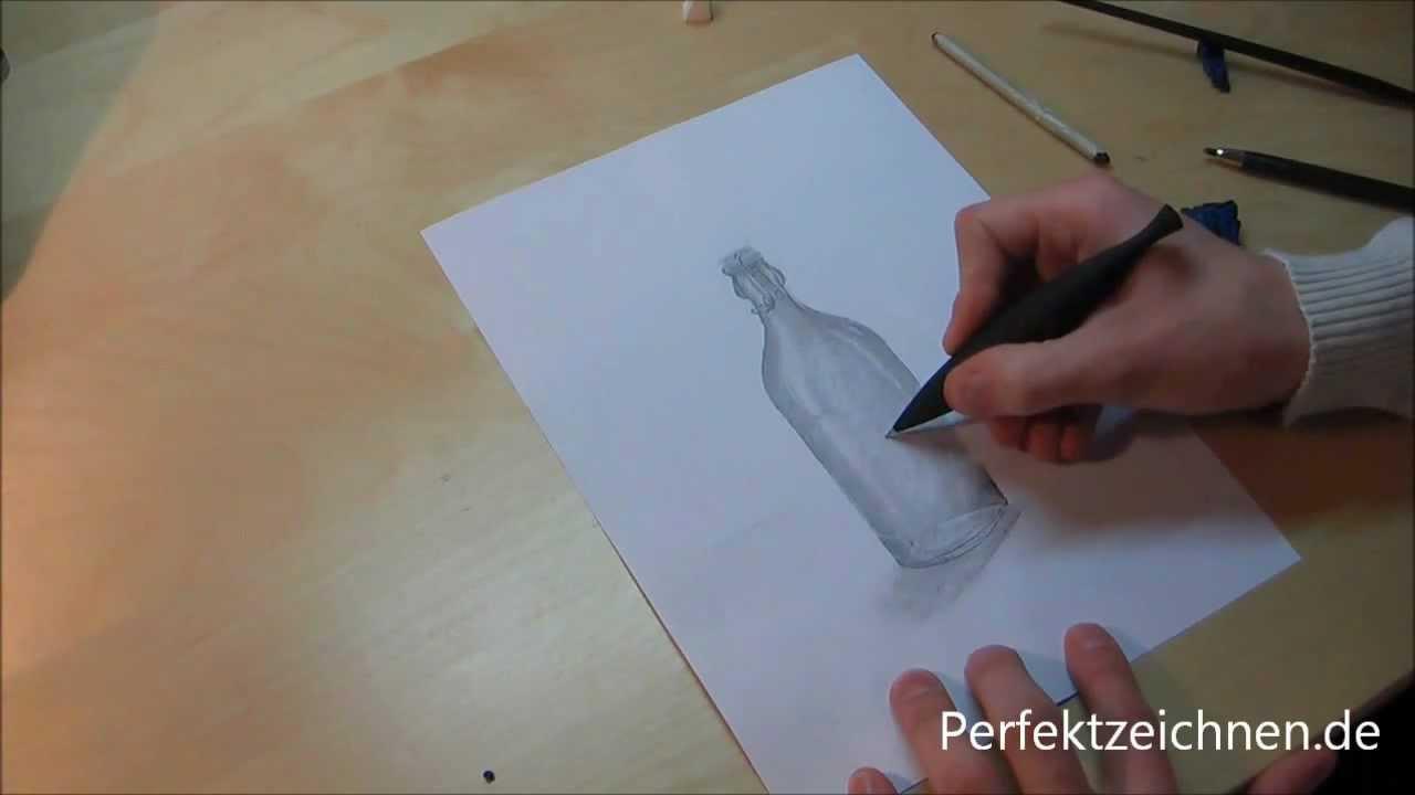 vorsicht glas perfekt zeichnen lernen flasche zeichnen lektion 11 youtube. Black Bedroom Furniture Sets. Home Design Ideas
