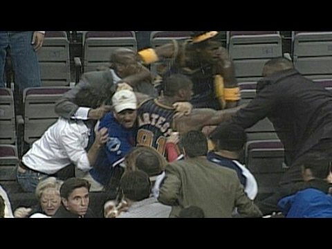 Malice At The Palace - Pistons vs Pacers 2004   The Worst Night In NBA History   NBA Highlights HD