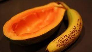 Homemade Hair Straightener Treatment Without any heat natural way with Papaya and banana