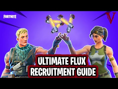 Ultimate Flux Recruitment Guide From The Collection Book! | Fortnite Save The World | TeamVASH
