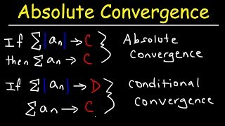 Absolute Convergence, Conditional Convergence, and Divergence