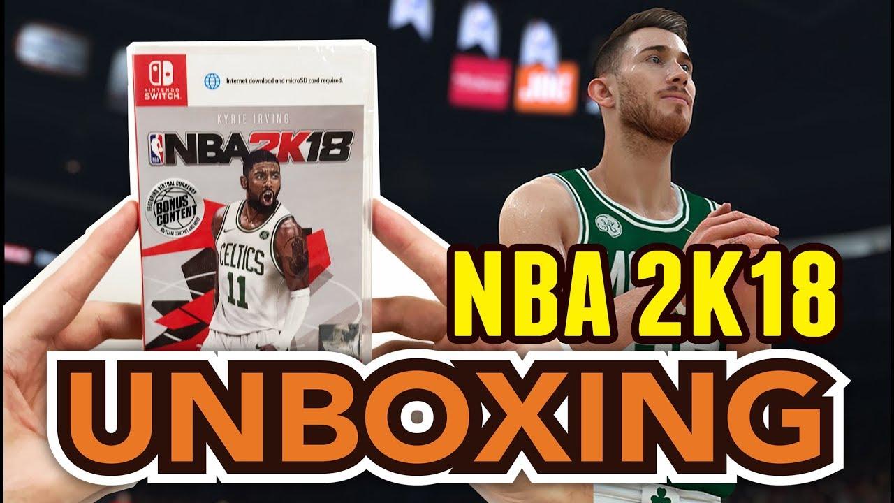 NBA 2K18 (Nintendo Switch) Unboxing !! - YouTube