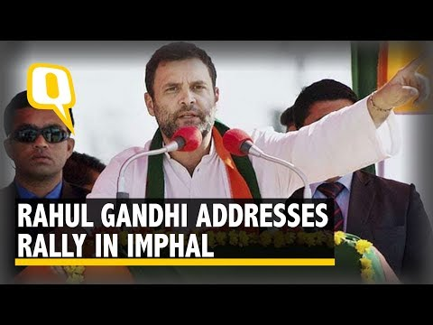 Rahul Gandhi Addresses Rally in Imphal