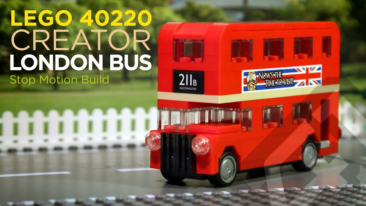 lego creator 40220 london bus 2016 stop motion build youtube. Black Bedroom Furniture Sets. Home Design Ideas
