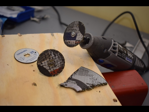 Make Cut-off Wheels For Your Angle Grinder (Dremel, Proxxon) In 2 Minutes - 2 Variants + Demo