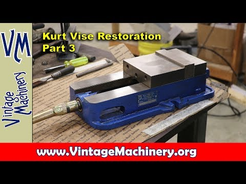 Kurt Vise Restoration - Part 3: Final Grinding and Reassembl