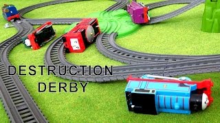 Destruction Derby Who will survive? Thomas & Friends train accidents. Tomek i Przyjaciele