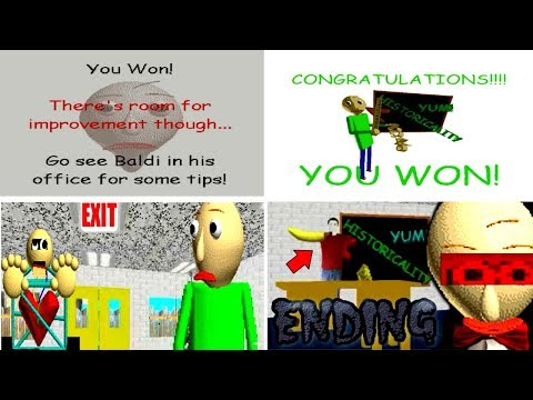 ALL ENDINGS Baldi's Basics in Education and Learning v1.3.1