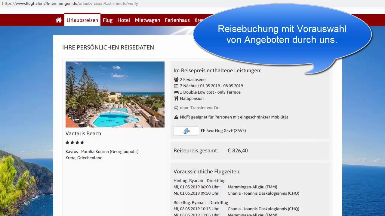 Urlaubsangebote Lastminute Ab Flughafen Memmingen Allgau Airport