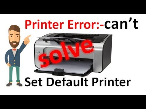 Cannot set default Printer Problem Solve| Printer Print Issue Solve