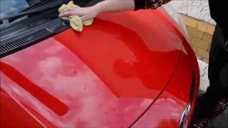 Leštění a konzervace auta unikátním voskem vlastní receptury