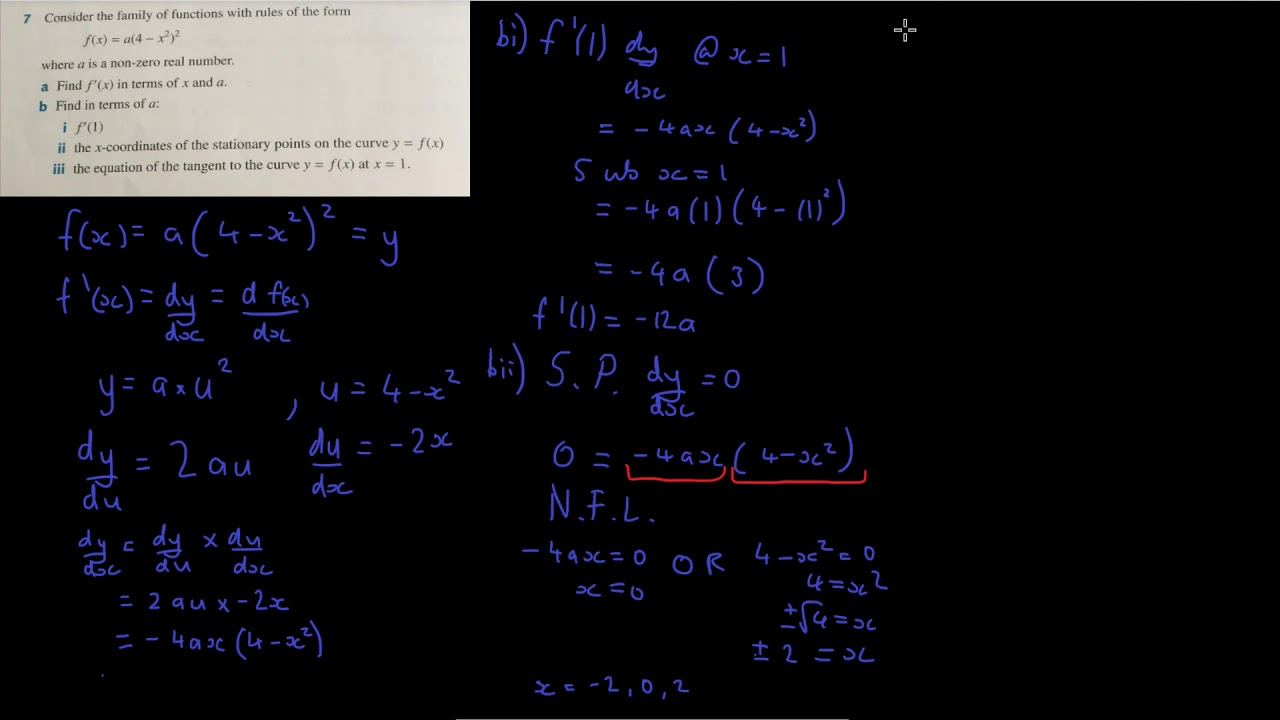 Deriving using Chain Rule for tangents