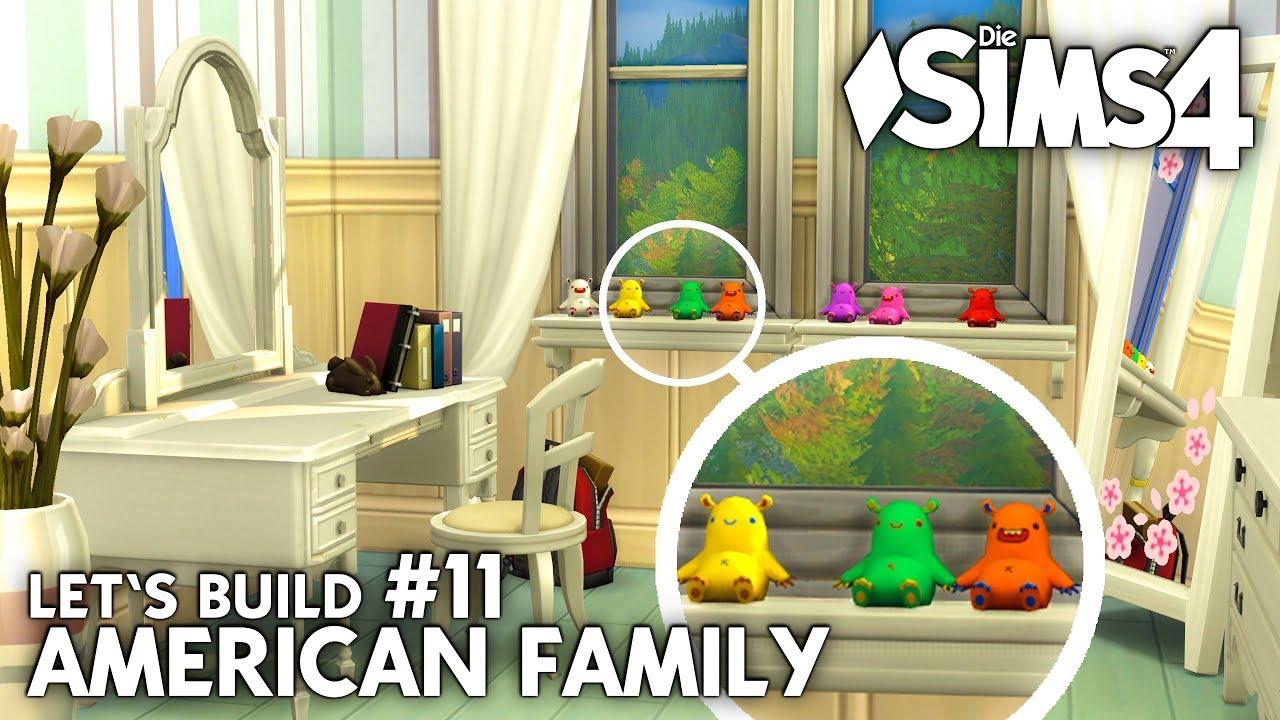 Die Sims 4 Haus bauen | American Family #11: Mädchen Kinderzimmer ...