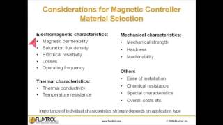 Considerations For Magnetic Flux Controllers Material Selection