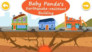 Baby Panda's Earthquake - Safeguard Your City with Earthquake Resistant Buildings! | BabyBus Games screenshot 3