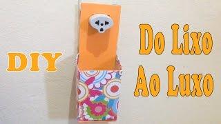 Porta Carregador de Celular com Caixa de Leite – DIY Artesanato