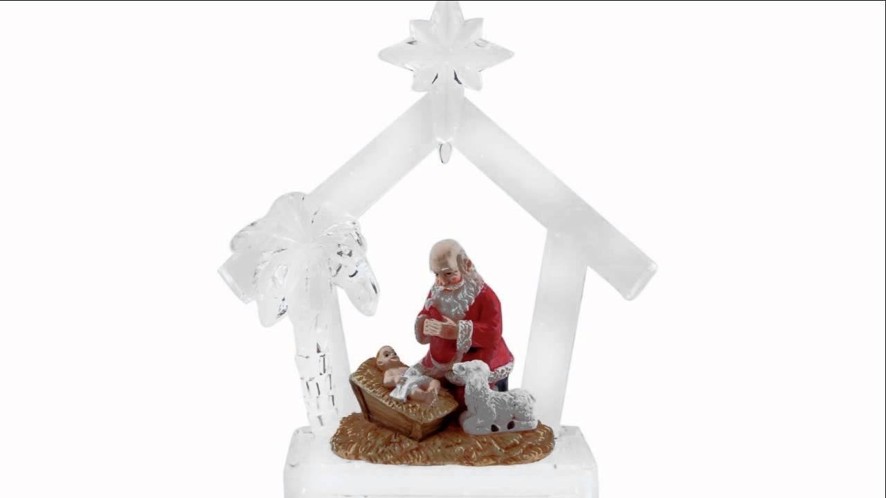 54e493627e5 Kneeling Santa Acrylic Ornament - YouTube