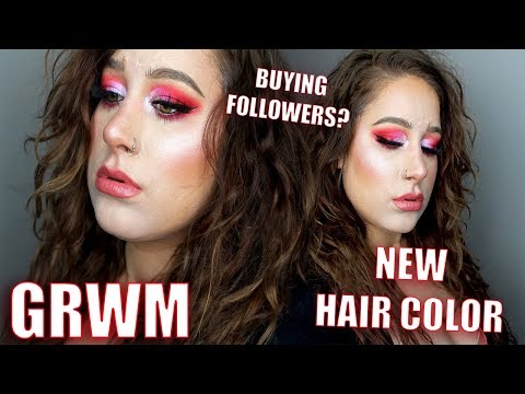 GRWM: New hair color,  Buying followers??