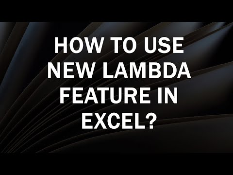 Excel Lambda Function | How to create custom function using Lambda Excel?
