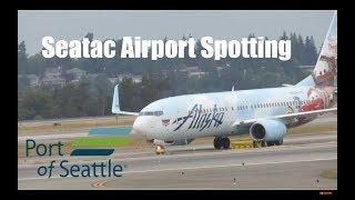 Various aircraft at Seatac International Airport