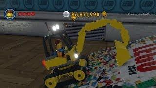 The Lego Movie Videogame - Golden Instruction Build #1 - Excavator Vehicle Showcase