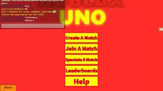Playing a game of roblox UNO! (1/9)
