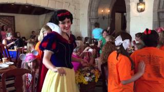 Princess Parade at Akershus Royal Banquet Hall in Norway at EPCOT