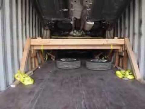 Авто из США, Погрузка авто в контейнер