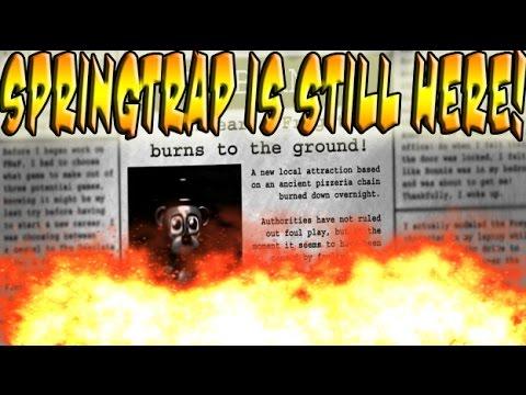 SPRINGTRAP IS STILL ALIVE! HIDDEN FNAF3 NEWSPAPER EASTEREGG!