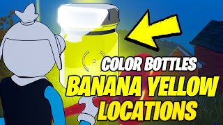 Find Bottles of banana yellow in Rainbow Rentals (ALL 3 LOCATIONS) - Fortnite