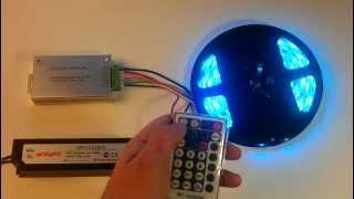 Готовый набор LED подсветки, демонстрация работы(Набор 3 для светодиодной подсветки потолка Готовые наборы для светодиодной подсветки квартиры, дачи, бани,..., 2013-03-04T19:11:11.000Z)
