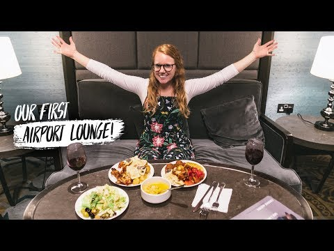 Our First AIRPORT LOUNGE EXPERIENCE! ✈️ (London Heathrow to